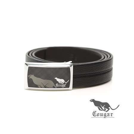 Cougar - 美洲豹蘇格勞伯牛皮釘扣式皮帶