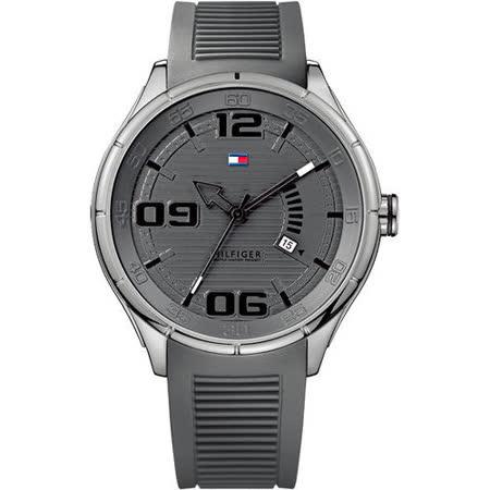 【私心大推】gohappy線上購物TOMMY HILFIGER紐約客大錶徑腕錶-灰/膠帶 M1790801心得板橋 遠 百 美食