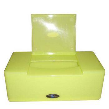 生活屋面紙盒-椰白/果綠