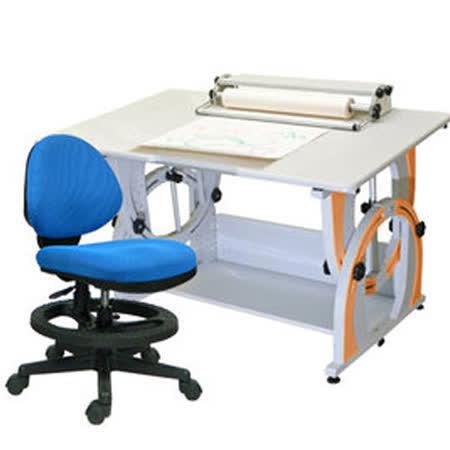 HAPPYHOME DIY兒童成長書桌椅組12色可選G-115F