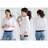 【韓系女衫】寬鬆五分袖襯衫
