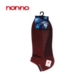NON-NO直條底氣墊船型襪-酒紅(22~24cm)