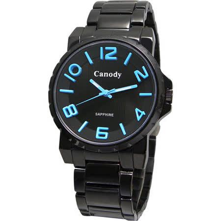 Canody 黑潮時尚彩色數字腕錶(藍針) GM2592-C