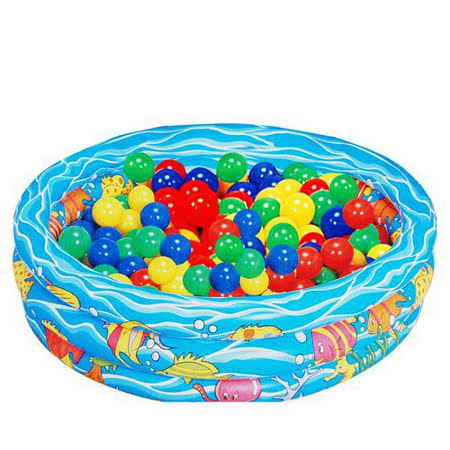 EMC 歡樂充氣游泳池 約88.75*29.5cm (附彩色安全球*10)