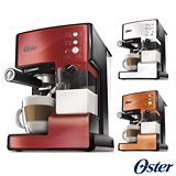 美國OSTER奶泡大師義式咖啡機BVSTEM6601(焰紅/乳白/銅橘)-送磨豆機