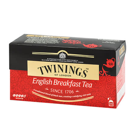 《TWININGS》唐寧茶 英倫早餐茶(2g*25)