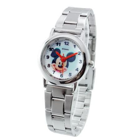 Disney經典米奇大頭鐵帶石英錶