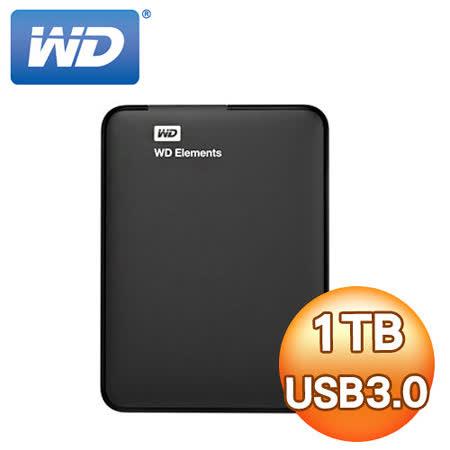 WD Elements 1TB 2.5吋 USB3.0行動硬碟