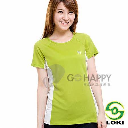 LOKI 女 VANA 圓領抗UV短袖排汗衣(暗香櫞綠)