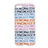 COACH LOGO字母滿版iPhone5手機保護殼(藍橘白)