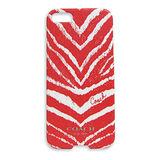 COACH 斑馬紋iPhone5手機保護殼(紅)