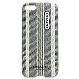 COACH 民俗風直紋iPhone5手機保護殼(黑灰)