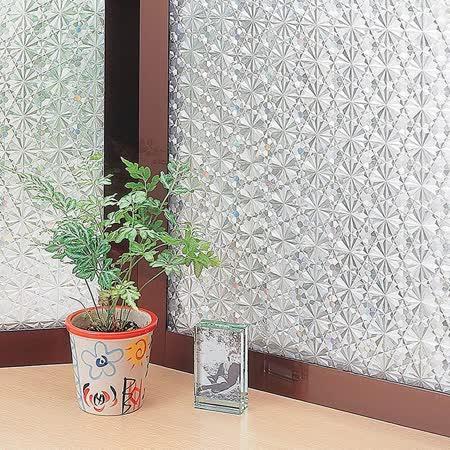 〔日本MEIWA〕抗UV靜電窗貼 (萬花齊放) 46x100公分