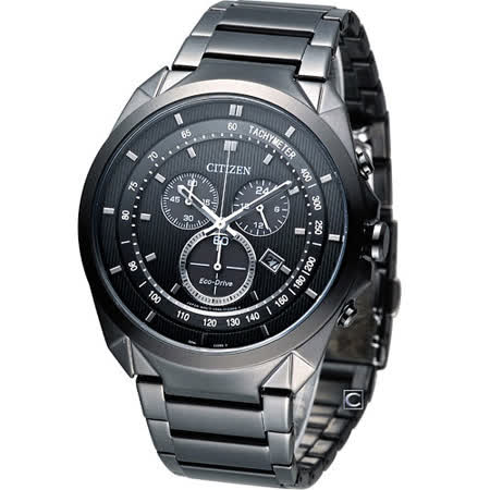 CITIZEN 星辰錶 Eco-Drive 未來時尚 計時腕錶 AT2155-58E