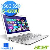 Acer S7-392 13.3吋 I5-4200U 256G SSD Win8 超輕薄Ultrabook(S7-392-54204G25tws04)【贈外接光碟機】