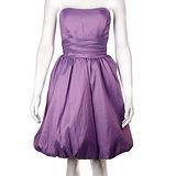 『摩達客』美國進口Landmark無肩帶浪漫紫緞面泡泡裙派對小禮服/洋裝(含禮盒)
