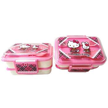 三麗鷗Hello kitty雙層易扣便當盒