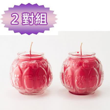 【金發財】普渡專用-立體蓮花蠟燭-2對組(蠟燭-普渡超渡法會必用)