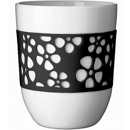 《QDO》雙層雕花杯(黑)