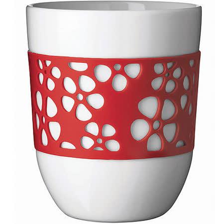 《QDO》雙層雕花杯(紅)