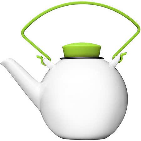 《QDO》白瓷濾茶提壺(綠1L)