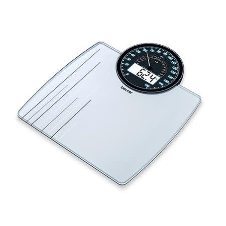 德國 博依 beurer GS 58 指針數位雙顯示玻璃體重計