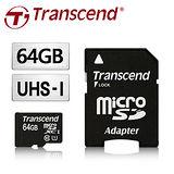 創見 64GB MicroSDXC Class10 UHS-I 300X 記憶卡(附轉卡)