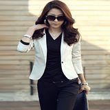 Kate❤Classic 韓版修身顯瘦單釦軟棉質短款小西裝外套(M~XXL)(UB00031)