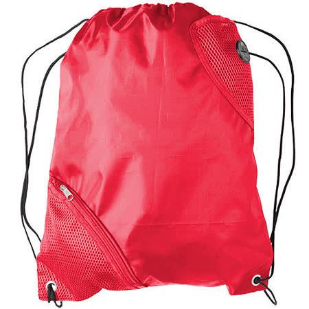 《VOYAGER》前雙網層束口後背袋(紅)