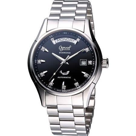 Ogival 愛其華 風華真鑽機械錶-黑 3357AJMS