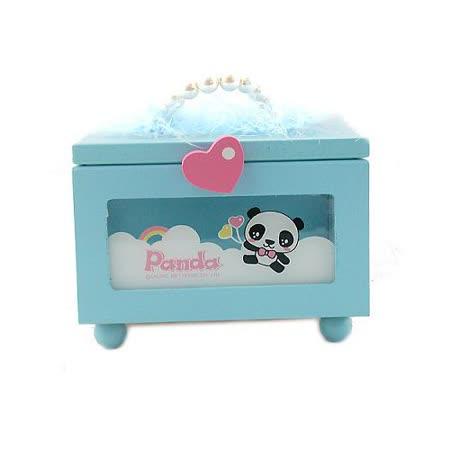 【iSFun】熊貓妮妮*手提式隨身木盒
