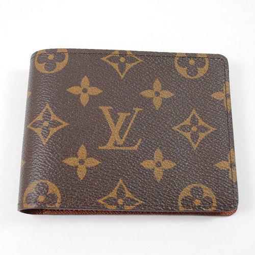 Louis Vuitton M60895 Monagram折疊短夾_