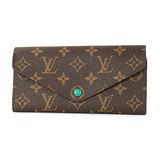 Louis Vuitton M60163 Josephine經典花紋長夾(綠色)現貨