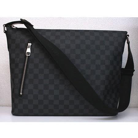 Louis Vuitton LV N41106 Mick MM Damier Graphite 黑棋盤格紋斜背包_預購