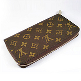 Louis Vuitton LV M60017 Monagram拉鍊式長夾_預購