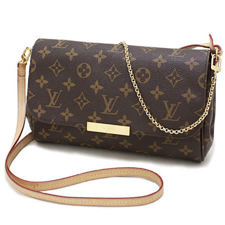 Louis Vuitton LV M40718 Favorite MM 經典花紋鍊條肩背包(附皮革背帶) _預購