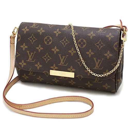 Louis Vuitton LV M40718 Favorite MM 花紋鍊條肩背包^(