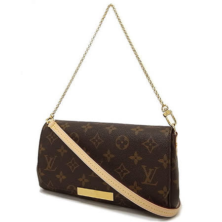 Louis Vuitton LV M40717 Favorite PM 經典花紋鍊條小肩背包(附皮革背帶)_預購