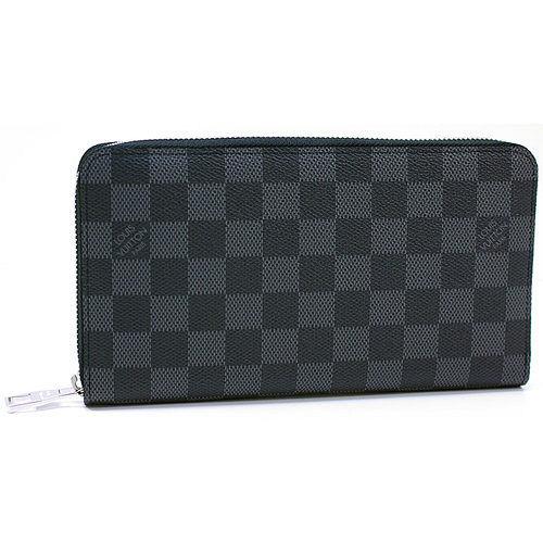 Louis Vuitton LV N63077 Damier 黑棋盤格紋謢照拉鍊長夾_