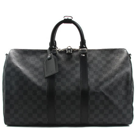 【勸敗】gohappy線上購物Louis Vuitton LV N41418 Keepall Bandouliere 45 黑棋盤手提旅行袋_預購去哪買高雄 大 遠 百 百貨 公司