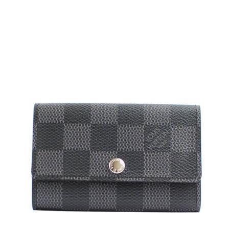 【網購】gohappy快樂購Louis Vuitton LV N62662 Damier 黑棋盤格紋六孔鑰匙包_ 預購評價好嗎愛 買 台北