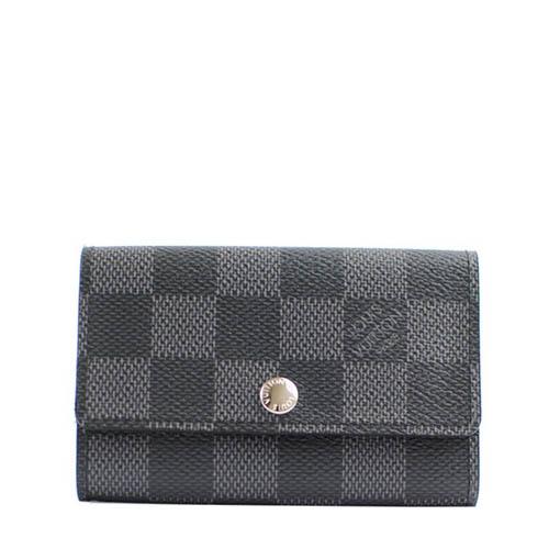 Louis Vuitton LV N62662 Damier 黑棋盤格紋六孔鑰匙包_