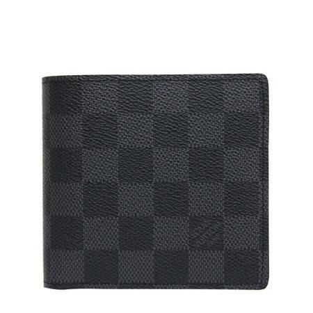 Louis Vuitton LV N62664 黑棋盤格紋信用卡零錢中短夾_預購
