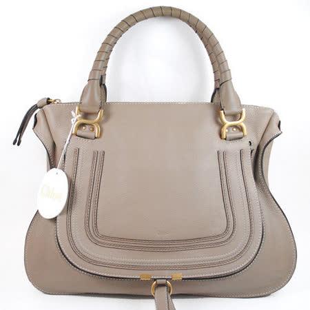 【部落客推薦】gohappy 線上快樂購Chloe Marcie Bag 時尚質感皮革雙把肩背包.大象灰(大)心得遠東 百貨 高雄 店