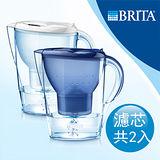 【德國BRITA】暢銷國民壺款Marella 3.5L馬利拉濾水壺+MAXTRA一入濾芯(本組合共有二支濾芯)