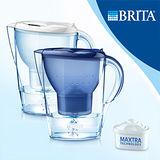 【德國BRITA】 Marella XL 馬利拉濾水壺(藍/白)-內含一支濾芯