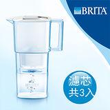 【德國BRITA】Liquelli Cool力酷型濾水壺2.2L+MAXTRA濾芯2入(本組合共3芯)