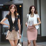 Kate❤Classic 韓版OL修身短袖小西裝外套(UB00048)