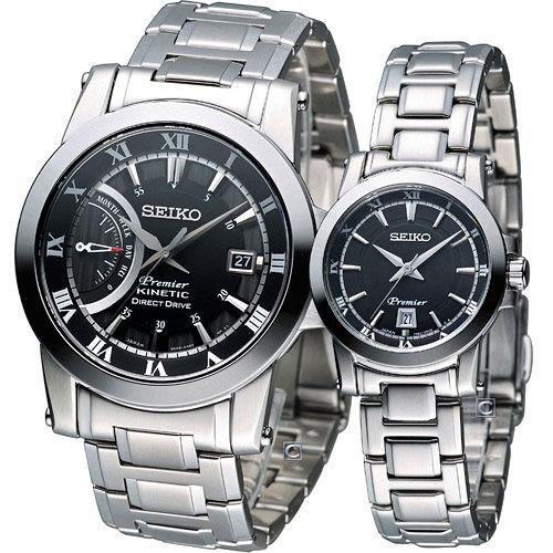 精工錶 SEIKO Premier 典雅時尚對錶 5D22-0AD0D 7N82-0HP0D