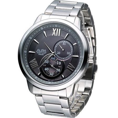 雅柏錶 ALBA 時尚型男小秒針造型腕錶 VD73-X002N AW2011X1